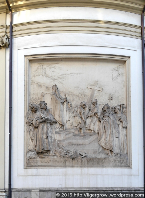 Relief on the exterior